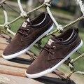 Мода Мужчины Обувь Повседневная Узелок Холст Обувь Мужская Тренеры Мужчины Повседневная Обувь