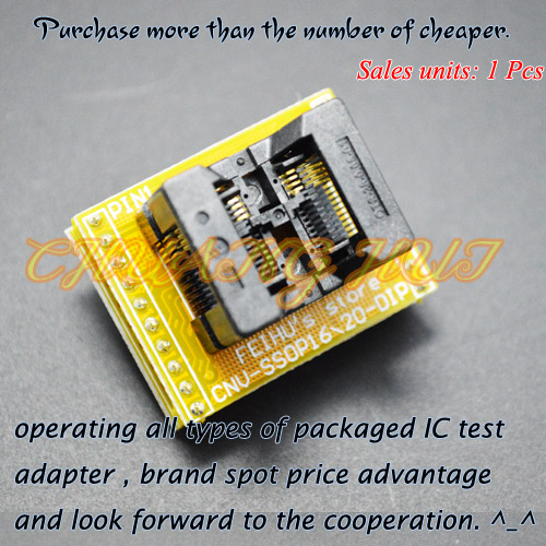 SSOP8 To DIP8 Programmer Adapter TSSOP8 Test Socket CNV-SSOP8-DIP Adapter Pitch=0.65mm