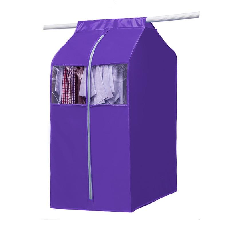 garment bag wardrobe storage bag hanging cloth organizer large capacity cloth hanging suit coat. Black Bedroom Furniture Sets. Home Design Ideas