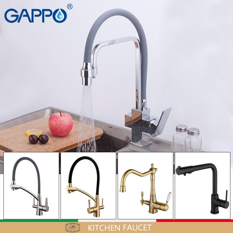 GAPPO cuisine mélangeur d'eau robinet robinets de cuisine mitigeur torneira avec de l'eau filtrée robinet En Laiton cuisine d'eau grue robinet filtre