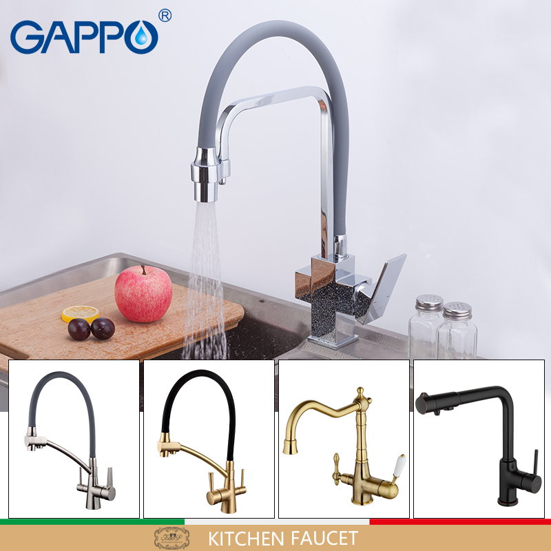 купить GAPPO water mixer kitchen faucet taps kitchen mixer tap torneira with filtered water tap Brass kitchen water crane faucet filter недорого