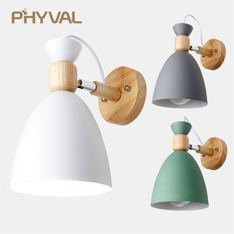 Wood simple creative wall light led bedroom bedside decoration Nordic designer living room corridor hotel adjustable wall lampsWood simple creative wall light led bedroom bedside decoration Nordic designer living room corridor hotel adjustable wall lamps