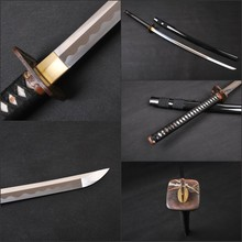 Manganese Steel Handmade Sword Japanese KATANA Full Tang Knife Battle Ready Practical Sharp Blade Knife Can Cut Tree
