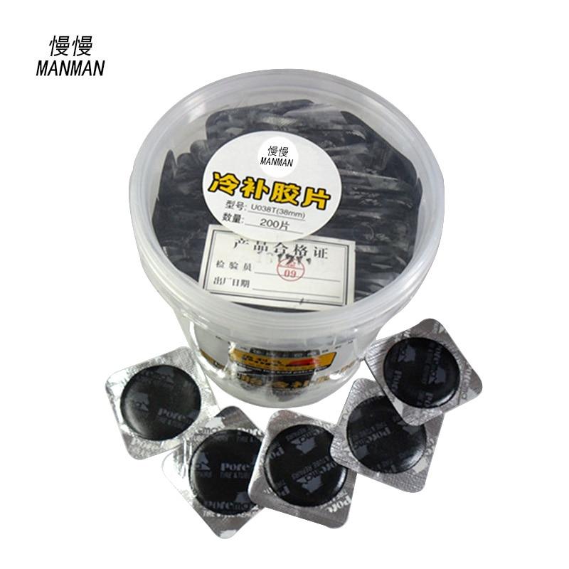 Prix pour 200 Pièces/boîte 38mm ronde nature en caoutchouc patch de réparation de pneus patch remendo pneu de réparation de pneus De Voiture tubeless pneu patches Pneu patch
