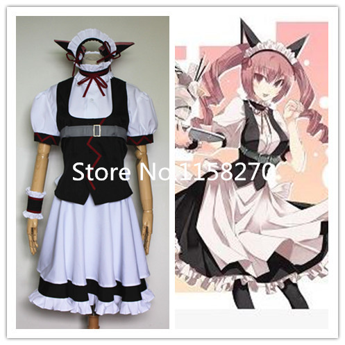 Us 88 0 Steins Gate Faris Nyannyan Rumiho Akiha Maid Clothes With Ears Cosplay Costume On Aliexpress Com Alibaba Group