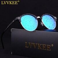 2017 Fashion Ultra Clear Polarized Mirror Sunglasses Men Half Frame Designer Club Brand Sun Glasses For