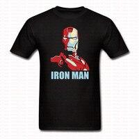 2017 verano estilo moda Camisetas Iron Man Superman manga corta o Masajeadores de cuello Tops camiseta Harajuku camiseta para hombres mujeres