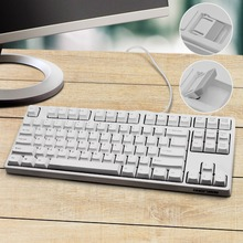 GANSS Mechanical Gaming Keyboard Programmable Macro Keys Tactile & Quiet 87 KeysTenkeyless Cherry MX Red (White)
