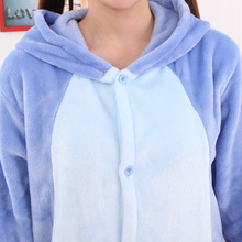 Winter Homewear Kigurumi For Adults Cute Animal Stitch Lilo Long Sleeve Hooded Onesie