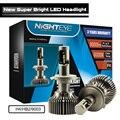 Nighteye Original CSP LED Chips 60W/Set 30W/Bulb 9000LM H4 9003 HB2 Headlight Kit H/L Beam Bulbs 6000K
