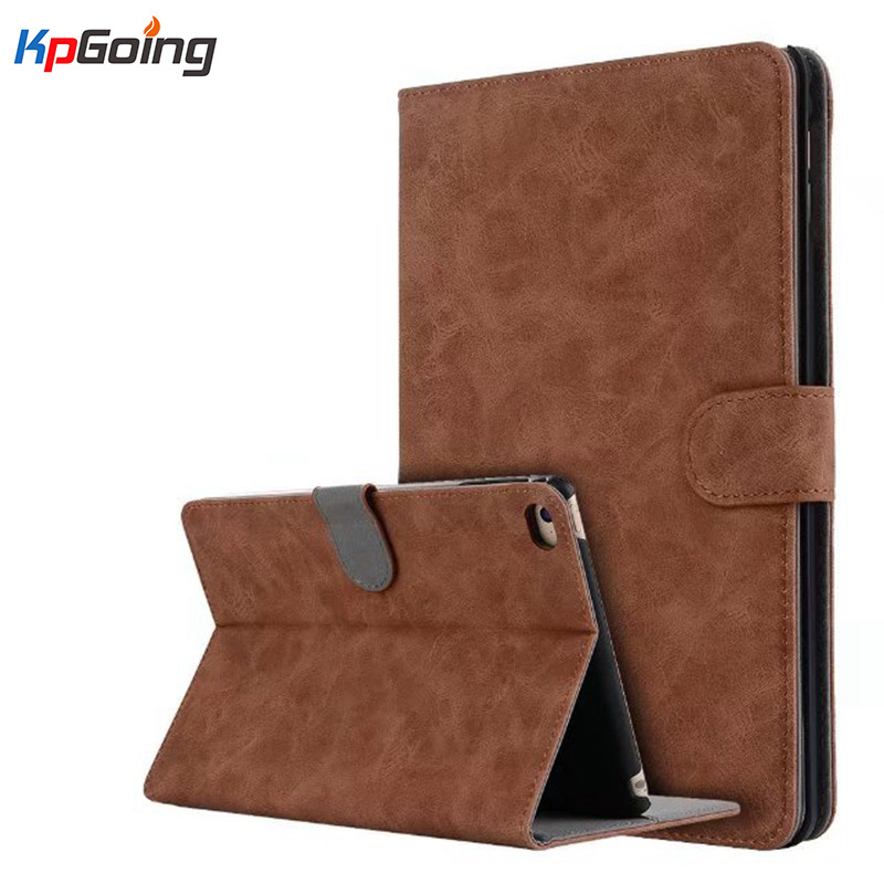 KpGoing Tablet Case for iPad Mini 4 Business PU Leather Flip Folio Stand Cover Case for iPad Mini 4 Vintage Fundas Black Brown flip left and right stand pu leather case cover for blu vivo air