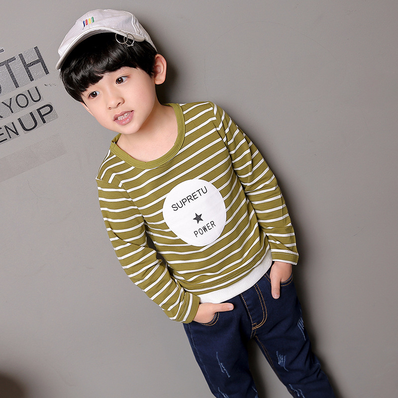Kid Boys Tops Children T shirts 2018 Spring Autumn T-shirts Kids Clothes Boys Sweatshirt Striped Tee Shirt Top Clothing 4-14 T