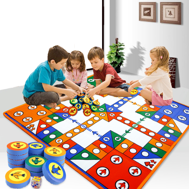 Baby Crawling Mat Kids Play Mat Flying Chess Carpet