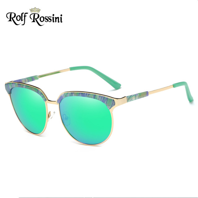 f3b30952b7 RR Fashion Semi-rimless Sunglasses Women Round Glasses Summer Style Sunglasses  Polarized Women Brand Designer Vintage Half Frame