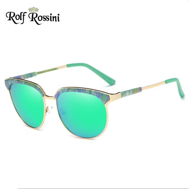 f3b30952b7 RR Fashion Semi-rimless Sunglasses Women Round Glasses Summer Style Sunglasses  Polarized Women Brand Designer Vintage Half Frame