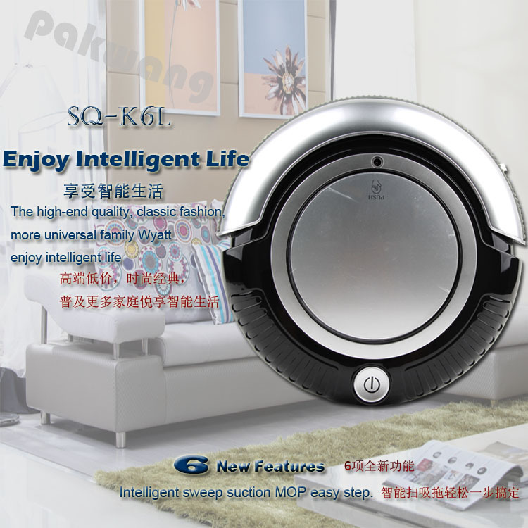 Automatic Vacuum Cleaner SQ-K6L with 3 cleaning route Mini robotic vacuum cleaner