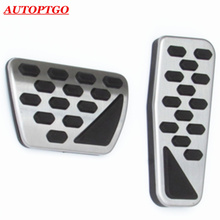 For Newest 2019 Jeep Wrangler Gas Brake Pedal Pad Cover Accessories Kit Genuine Foot Pedals Car Styling Stainless Steel + Rubber
