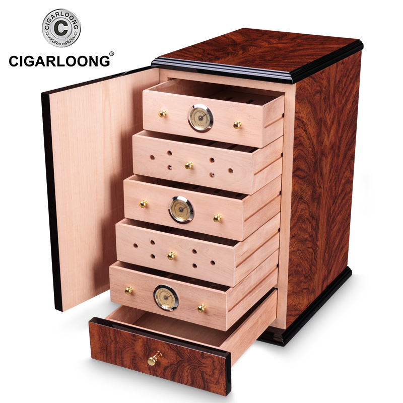 High Gloss Cigar Humidor Cabinet Humidor Box Cedar Wooden Cigars Case Box W Humidifier Hygrometer For COHIBA Cigars CLA 0081 2 in Cigar Accessories from Home Garden