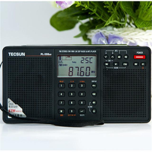 Alta calidad Tecsun PL-398 radio MP Radio digital DSP con Reproductor de MP3 FM Estéreo/MW/SW/LW Receptor Dual Del Altavoz FM Radio caliente venta