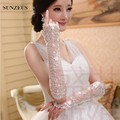 Sheer Lace Long Bridal Wedding Gloves Elbow Length Sexy Gloves Fingerless Lace 2016 Fashionable Design S06