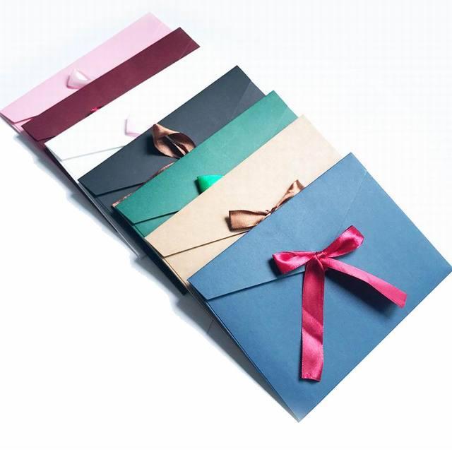 500 Pcs Vintage Ribbon Envelope Cute Creative Greeting Card Envelops