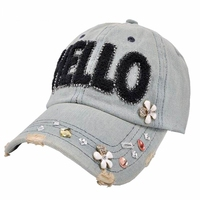 GKTINOO hot cotton embroidery HELLO baseball cap snapback caps fitted bone casquette hat for women custom hats C3415