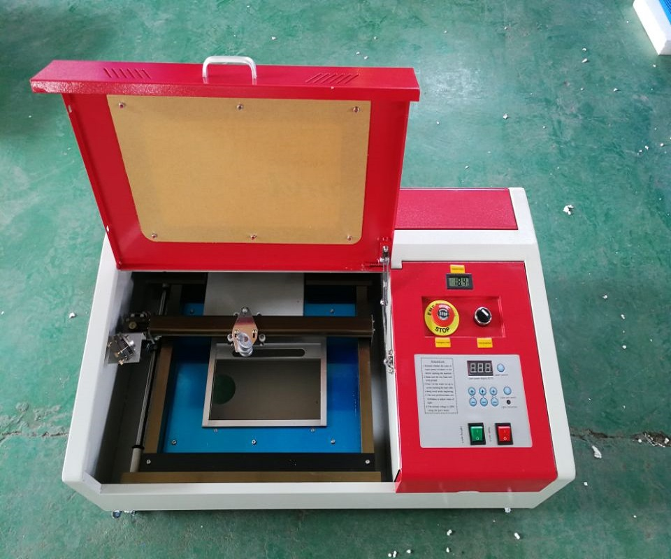 Updated Cheap Red  40W USB CO2 Laser  Engraver  CUTTING MACHINE ENGRAVER CUTTER W/ COOLING FAN