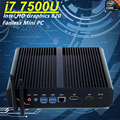 Mais novo gen 7500u eglobal mini fanless pc intel core i7 HD Graphics 620 Windows 10 300 M Wi-fi Kaby Lago 14nm Desktop computador