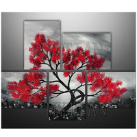 5 PCS Diamond embroidery landscape tree 5d diy diamond painting Mosaic drawings rhinestone art pictures Multiple painting
