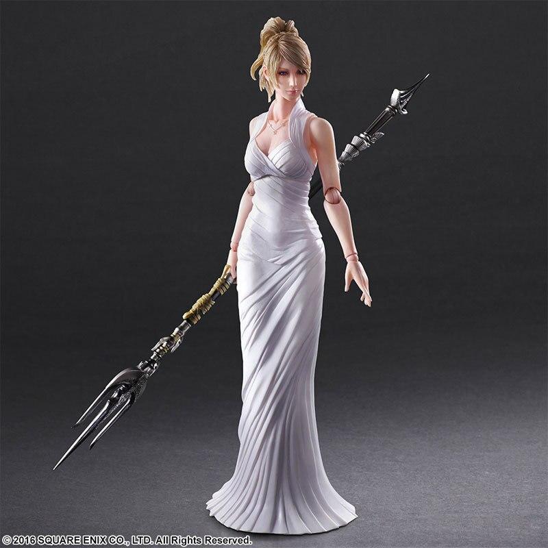QICSYXJ Birthday Gift Final Fantasy Action Collection 25cm PA KAI Lunafrena Nox Fleuret Model Anime FF XV Toy Figure