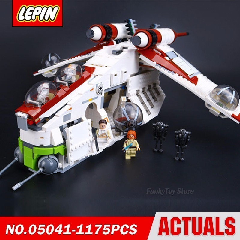 Lepin 05041 Republic Gunship 75021 Star Series Wars Model Building Block Brick Kits Compatible Gift Toys new lepin 22001 pirate ship imperial warships model building kits block briks toys gift 1717pcs