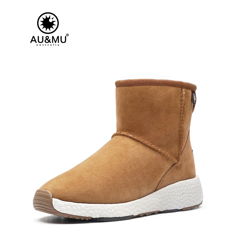 2017 AUMU Australia Womens Classic Wild Ankle Fur Sheepskin Leather Short Winter Snow Boots UG NY098 2017 aumu australia women classic short sheepskin elastic suede winter snow boots ug ny082