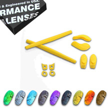 ToughAsNails Resist Seawater Corrosion Polarized Replacement Lens&Yellow Rubber Kit for Oakley juliet - Multiple Options цена