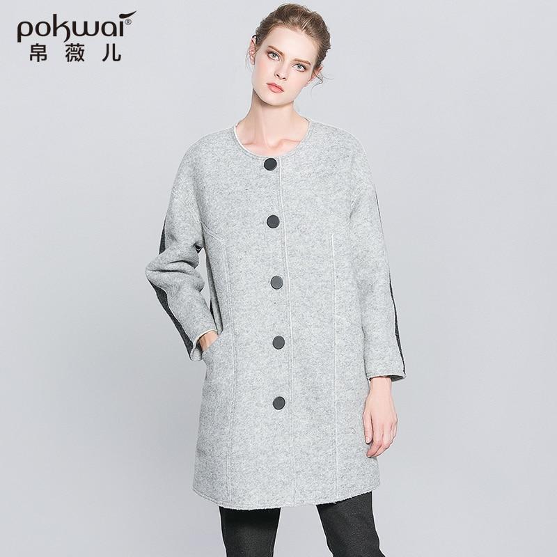 Popular Grey Wool Coat-Buy Cheap Grey Wool Coat lots from China ...