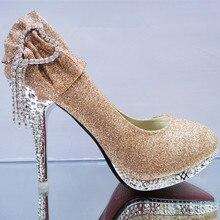 New Glitter Gorgeous Wedding Shoes Bridal Crystal Women High Heels Women Shoes Woman Pumps Fashion Bridal Shoes Zapatos De Mujer стоимость