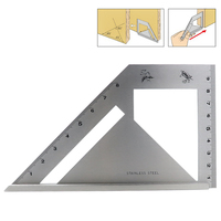 45 degree 90 degree Angle Ruler Stainless Steel Protractor Gauge For Carpenter Measuring Woodworking Tools