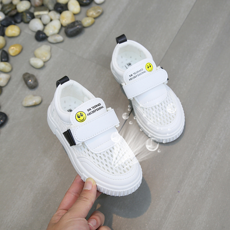 2019 Children's Hollow Breathable Mesh Shoes Summer Boys And Girls Wild Casual Shoes Children's White Shoes Non Slip