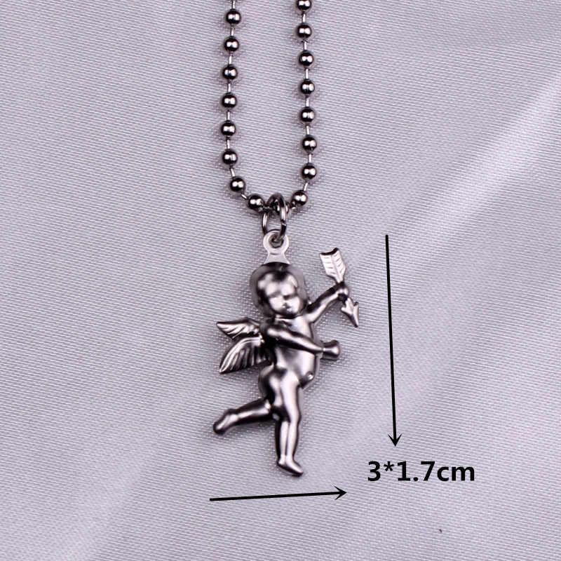 Łańcuchy z koralików ze stali nierdzewnej śliczny królik Alien liść dolarów anioł naszyjniki mężczyźni punk vintage naszyjnik z misiem kobiety unisex prezenty
