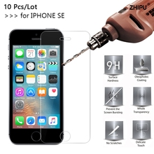 10 Pcs/Lot 2.5D 0.26mm 9H Premium Tempered Glass Screen Protector For Apple IPHONE 5 5S SE protective film