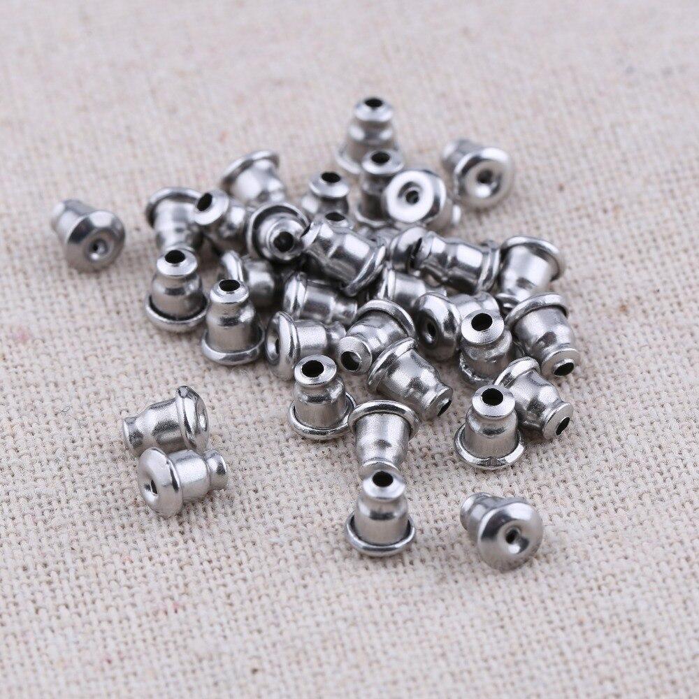 onwear 100pcs/lot bullet shape stainless steel earring backs stopper diy earrings accessories for jewelry making 100pcs lot mmbt3906wt1g trans gp ss pnp 40v sot323 mmbt3906wt1g 3906 mmbt3906 mmbt3906w 3906w t3906 making 1e