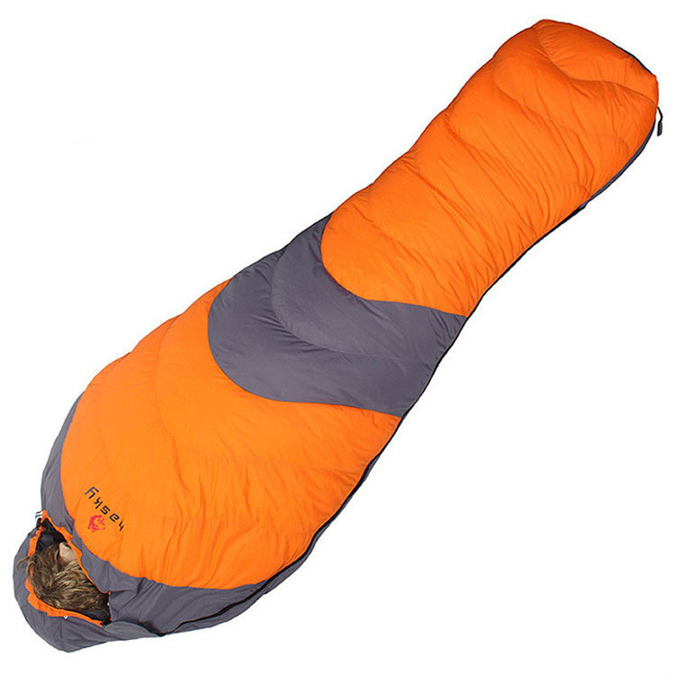 Camping Ultralight Sleeping Bags Duck Down Outdoor Tourists Waterproof Mummy  Adult Sleeping Bag Free Shipping nature portable multifuntional ultralight mini duck down mummy shape outdoor camping travel hiking sleeping bag 1100g 2 colors