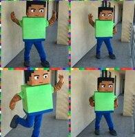 Новый стиль взрослых Размер Minecraft маскоты маскарадные костюмы Бесплатная доставка