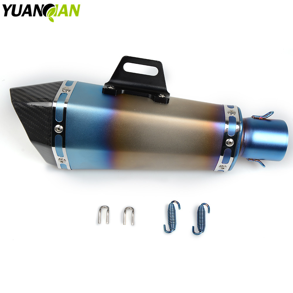 universal 36- 51mm Motorcycle Modified Exhaust Scooter Muffler Exhaust For Yamaha YZF R1 2007-2008 YZF600 R6 YZF1000 R1 MT-07 цена