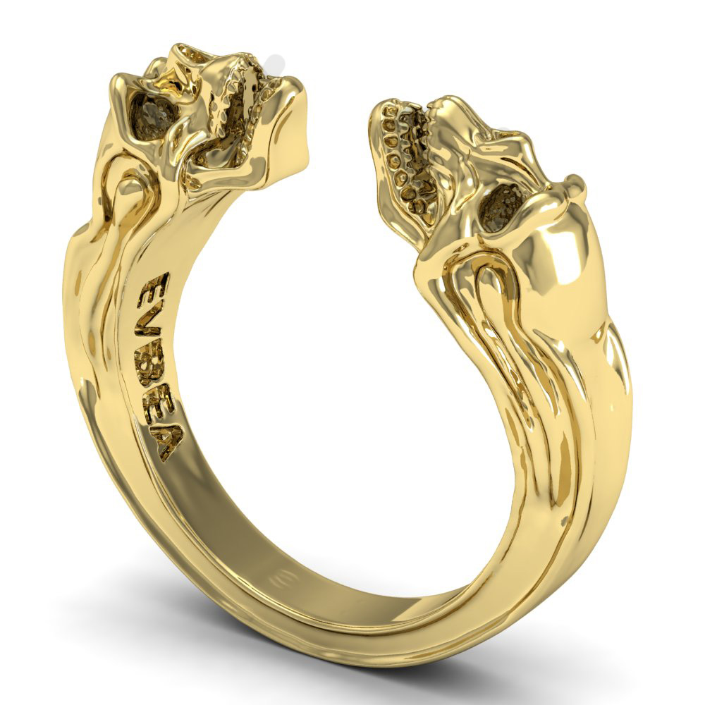 Evbea 925 Sterling Silver Ring Gemini Skull Gold Two Open. Glass Bands. Matching Bands. Pendant Beads. Penguin Brooch. Shop Watches. Natural Stone Engagement Rings. Engraving Rings. Gold Diamond Eternity Band