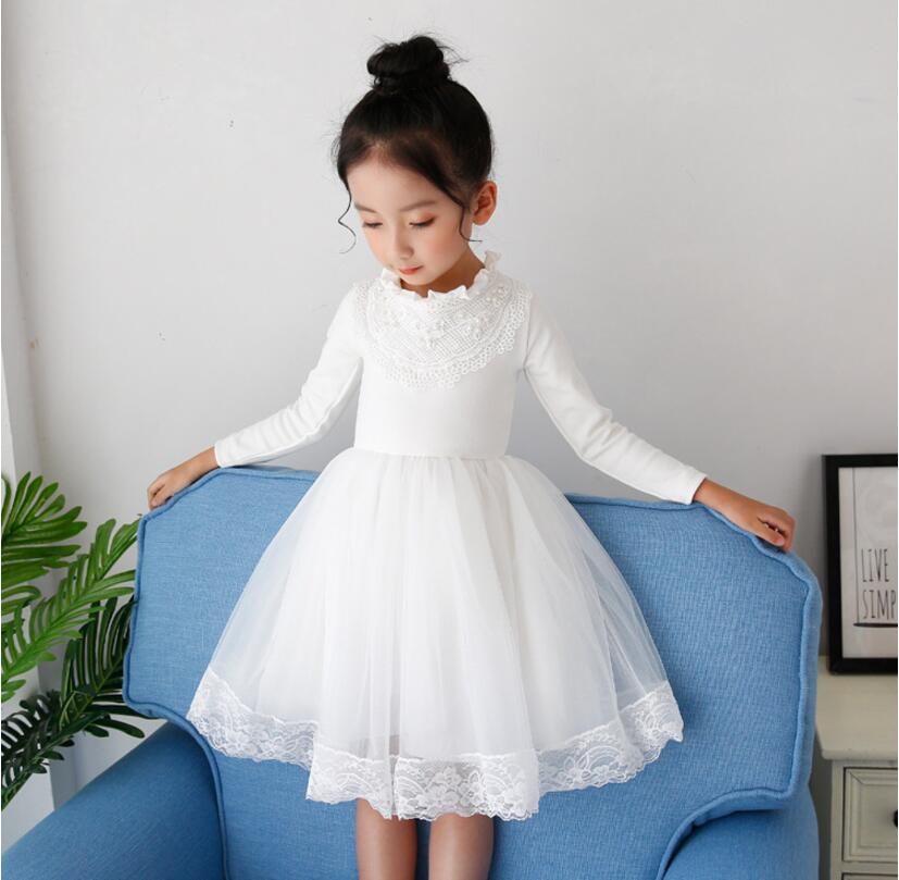 Girls Dresses Teenage Spring Summer Autumn Party Wedding Ball Gown Dress for Girl Long Sleeve Kids Children Tutu Dress 4-12yrs