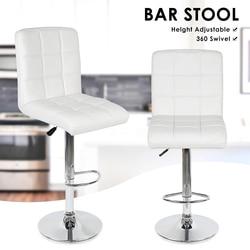 2 ADET Moda Döner Bar Sandalyeleri Sentetik Döner Bar Taburesi Kaldırma yüksek tabure Footrest ile Ayarlanabilir Silla Ev Dekor için HWC