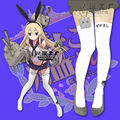 Anime Kawaii Kantai Collection Tights Girls White Shimakaze Stockings Pantyhose Cosplay Props