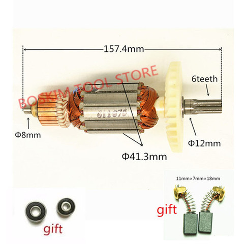 Armadura do Motor do Rotor para Hitachi Dentes Hikoki 360875e Dh38ms Dh38ss Dh38ye2 Broca Martelo 6 Ac220-240v C213944e