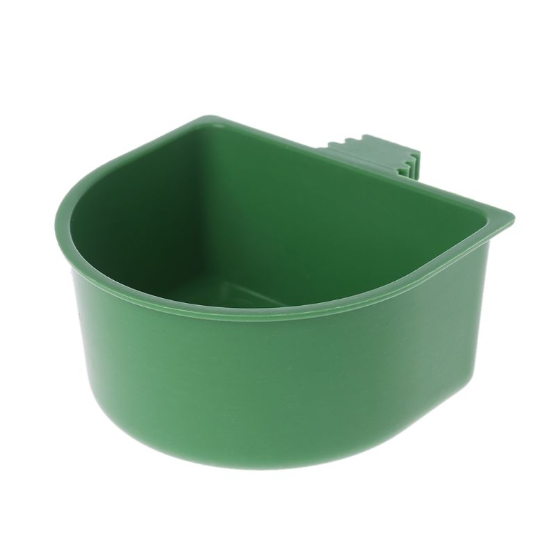 Plastic Parrot Feeder Food Water Bowl Pigeons Birds Cage Sand Cup Feeding