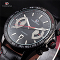 2016 FORSINING Luxury Men Skeleton Watches Automatic Wristwatch Auto Date Calendar Dial Mens Military Mechanical Watch Gift